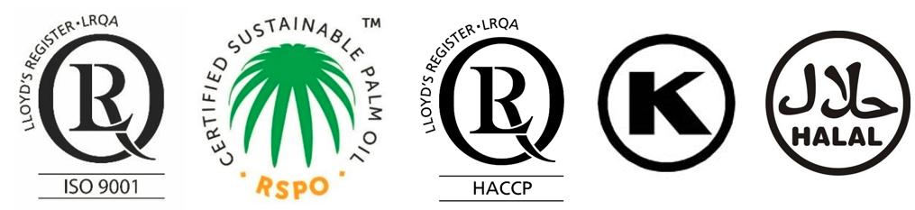 Organic, HAACP, Halal, Kosher
