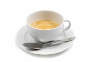 Tazzina di caff con cucchiaino